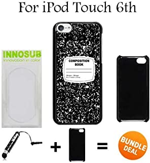Composition Notebook Funny Retro Custom iPod 6/6th Generation Cases-Black-Plastic,Bundle 2in1 Comes with Custom Case/Universal Stylus Pen by innosub