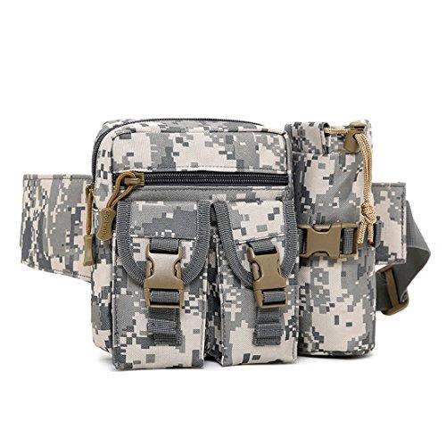 Dooppa Tragbare taktische Hüfttasche mit Wasserflaschen-Tasche für Wandern, Radfahren, Klettern, Angeln, Acu