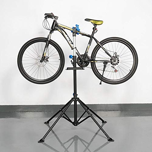 Topeakmart Portable Mechanic Bicycle Repair Stand Bike Rack Home Used Adjustable Height Wash/Display/Maintenance Stand