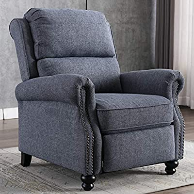 CANMOV Recliner Chair, Arm Chair Push Back Recliner with Rivet Decoration