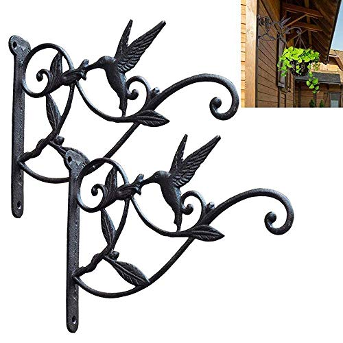 Gietijzeren ophanging voor lantaarns, bloembakken, windchimes, windspinner, vogelvoer, haken en rails.