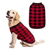 KOOLTAIL Dog Winter Jumper Classic Plaid Dog Knitwear Sweater Soft Baseball Shirt Design for Pet Cold Weather Wearing