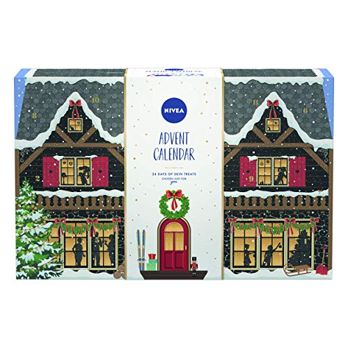 NIVEA Ski Lodge Advent Calendar 2020 for Her, Christmas Advent Calendar with a Variety of NIVEA Products, Beauty Advent Calendar, Christmas Gifts for Women