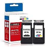 Cartucho de tinta, cartucho de tinta de gran capacidad, adecuado para impresora PIXMA E568 E568R cartucho de tinta todo en uno, adecuado para cartucho de tinta Canon PG-87 CL-97, negro 600 páginas, c