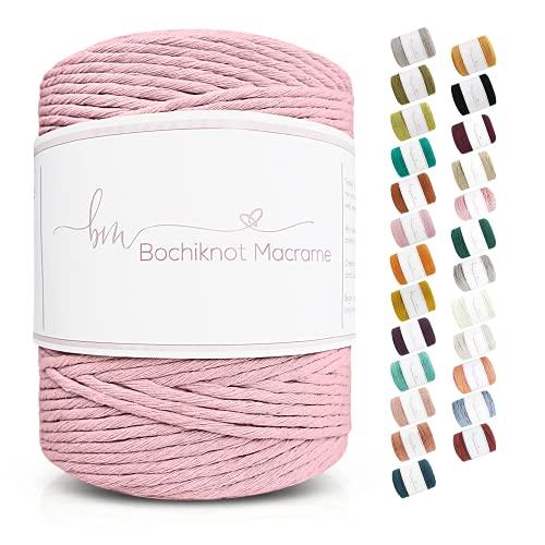 Bochiknot Macrame   Single-Strand Twisted Cotton Cord 3mm x 330yds   Twisted...