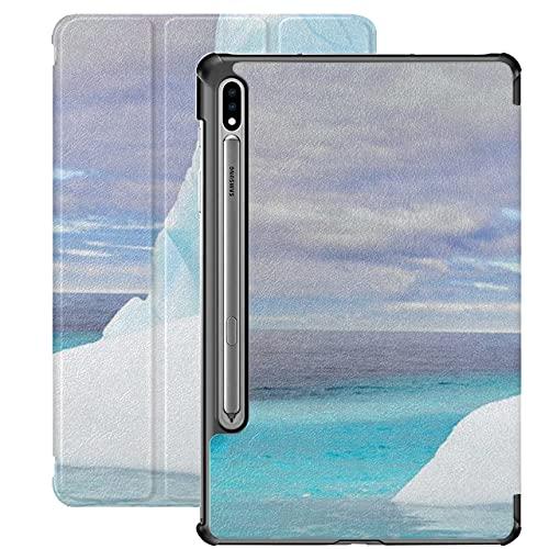 Cute Penguin Dump On Iceberg Funda Galaxy Tab S7 para Samsung Galaxy Tab S7 / s7 Plus Funda Samsung Galaxy Tab A Funda Trasera con Soporte Funda para Tableta Samsung para Galaxy Tab S7 11 p