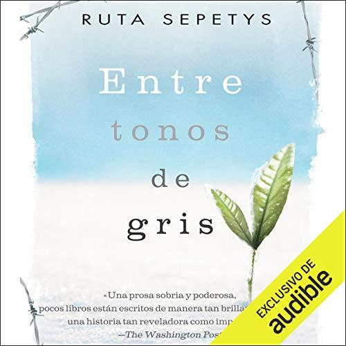 Diseño de la portada del título Entre tonos de gris