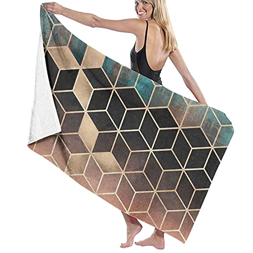 asdew987 Toallas de baño Ombre Dream Cubes extra grandes Toallas de baño de secado rápido/Natación/Camping