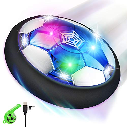 lenbest Air Football, Air Hover Ball Soccer, Juguetes Aire Fútbol con LED, Niños Air Power Soccer...