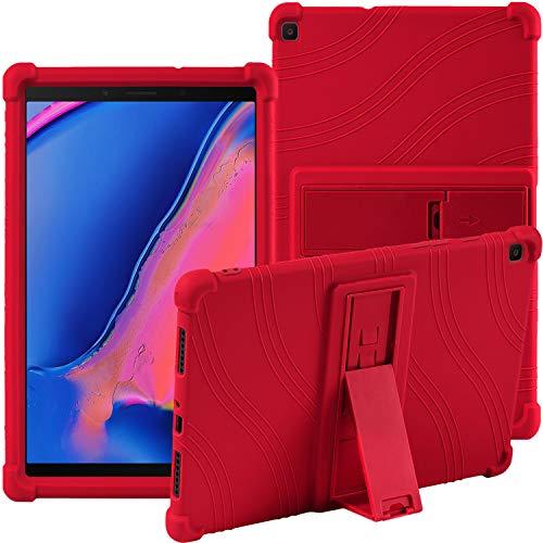 Samsung Galaxy Tab A 8.0' 2019 SM-T290 SM-T295 Case,ATOOZ PC Bracket Tablet Silicone Case,Anti-drop For Samsung Galaxy Tab A8 Cover (Red)