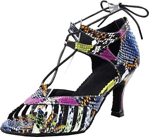 Zapatos modernos de danza latina para mujer, estilo rumba, tango, baile, fiesta,...