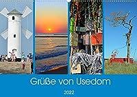 Gruesse von Usedom (Wandkalender 2022 DIN A2 quer): Sehenswerte Motive von der Insel Usedom (Monatskalender, 14 Seiten )