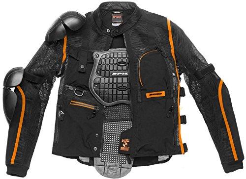Spidi Multitech Armor Evo - Chaqueta protectora (talla S), color negro y naranja