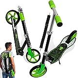 KESSER Scooter Roller Kinderroller Cityroller Tretroller Kickroller Kickscooter, Design / Spider (Green)