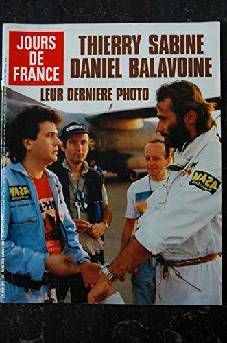 JOURS DE FRANCE 1621 JANVIER 1986 COVER DANIEL BALAVOINE THIERRY SABINE CHORUS LINE ARIANE
