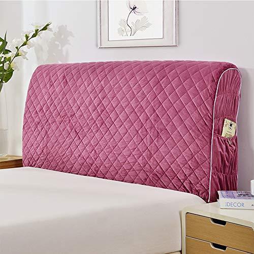 Europäischer Stoff Stretch Kopfteil Staubschutz All-Inclusive Bettbezug Soft Pack Bett Rückenlehnenschutz Waschbar,Red