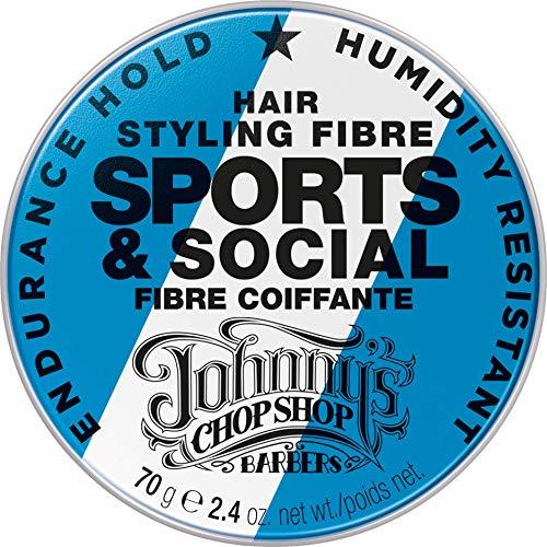 Johnny´s Chop Shop Hair Styling Fibre Sports & Social | für starken Halt | feuchtigkeitsbeständiges Haarwachs Haargel | 1er Pack (1x 70g)