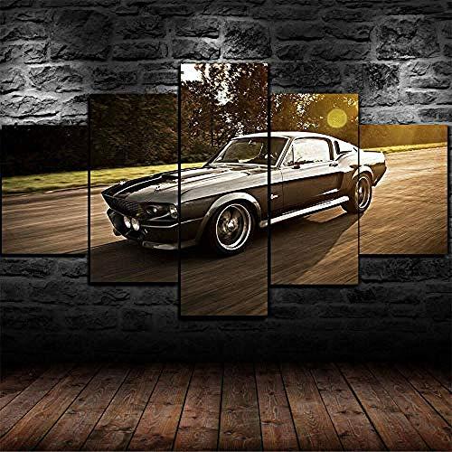 QMCVCDD 5 Piezas De Pared Fotos Cuadros En Lienzofoto Nissan Skyline GTR R34 Rápido Y Furioso HD Imprimir Modern Artwork Decoración De Arte De Pared Living Room Moderno Cuadro En Lienzo 5 Piezas