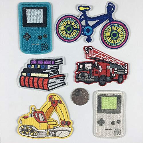 Patch Sticker,Parche termoadhesivo,Aplique de bordado adecuado para sombreros, chaquetas, abrigos, camisetas, consola de juegos, bicicleta 6 piezas