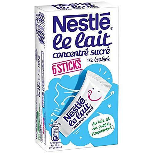 NESTLÉ - Lait Concentre Sucre Sticks 180G - Lot De 4 - Vendu Par Lot