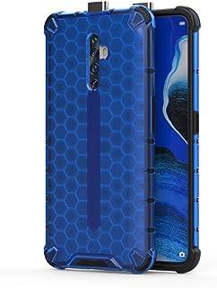 ハードケース 親しい同僚Reno2 Z耐震性ハニカムPC TPUケースについて (色 : Blue)