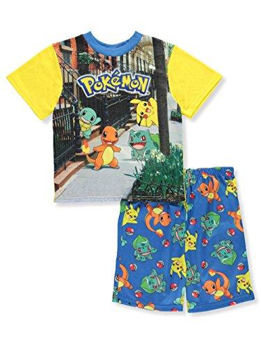 Pokémon Pokemon Little Boys' 2-Piece Pajamas - Yellow Multi, 4
