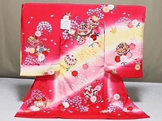 女の子お宮参り用着物 正絹女児初着 日本製 X0469-04