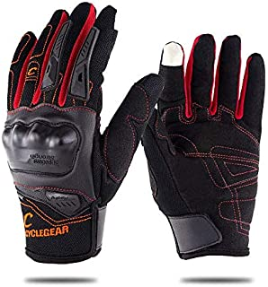 HobbyAnt SOMAN CG668 Touch Screen Full Finger Gloves Motorcycle Military Tactical Airsoft Hard Knuckle - Size M Color Black