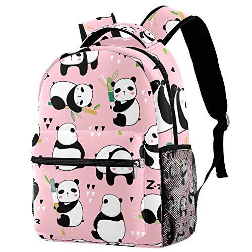 Shiiny Kawaii Panda Bears - Zaino sportivo per bambini e bambini