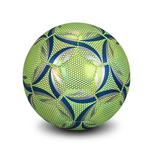 Retinue LED Leuchtfußball, Leuchtfussbälle Leuchtball Leuchtender Fußball Im Dunkeln Für Kinder Erwachsene, Größe 5/4