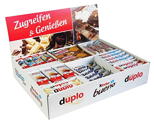 Ferrero Top Brand Box mit 78 Riegeln in 8 Sorten, mit Kinder Bueno, Kinder Country, Kinder Riegel, Duplo und Hanuta, 1er Pack (1 x 2kg)