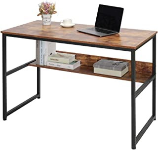 IWELL Industrial Computer Desk with Storage Shelve, 47