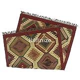 iinfinize - Alfombra de yute de 1,2 x 1,82 m, hecha a mano, hecha a mano, de lana, rústica, de yute, vintage, para el suelo, de meditación