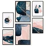 Ohbimba – Laminas Decorativas para Enmarcar (Sin Marco) Posters de Pared para Decoración Salón Moderno, Cuadros Rosa Habitación Dormitorio Salon – Imágenes Estilo Femenino - Tamaño A3 y A4