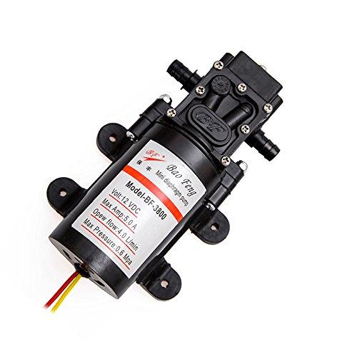NUZAMAS Neue 12V High Druck Membran selbstansaugende Wasserpumpe für Wohnwagen/Caravan/Wohnmobil-/Boot/Marine