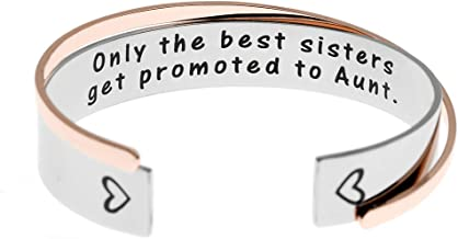 Ms. Clover Aunt Gifts Only The Best Sisters Get Promoted to Aunt Bracelet New Aunt Gifts Sister Aunt Cuff.