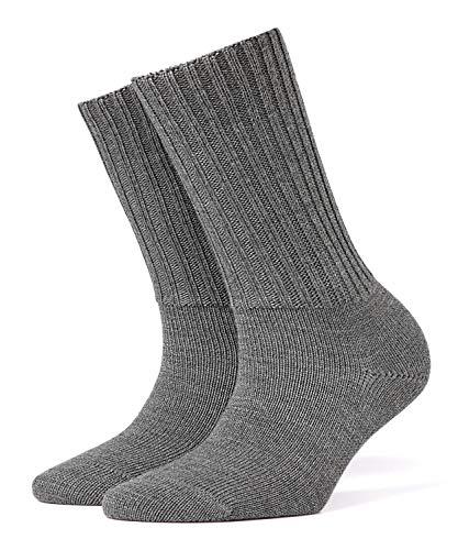 BURLINGTON Damen Socken Plymouth, 91{b4112b7c7fed8c6a79e1051f9c412857cb68c84a187b9de9e778b5a3af8fe861} Schurwolle, 1 Paar, Grau (Dark Grey 3070), Größe: 36-41