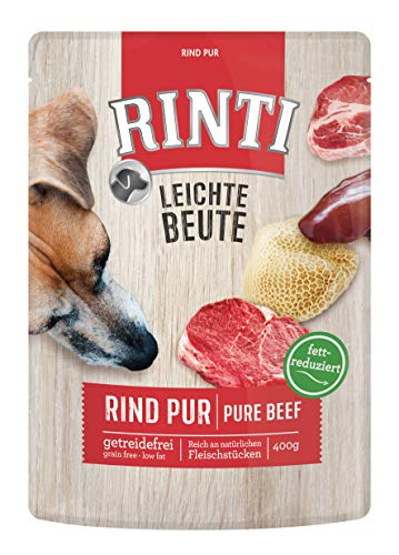 Rinti Hundefutter Leichte Beute-Hundefutter, 10er Pack (10 x 400 g Rind Pur)