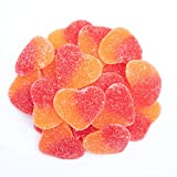 These heart shaped gummies have the taste of ripe juicy peaches packed into a sweet chewy candy. Gummy Peach Hearts ship in a resealable Zip-Lock Stand Up Pouch.