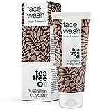Face Wash de Australian Bodycare, 100 ml: limpiador facial con aceite de árbol del té, para piel...