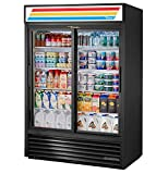 True GDM-47-HC-LD Sliding Glass Door Merchandiser Refrigerator with Hydrocarbon Refrigerant and LED Lighting, Holds 33 Degree F to 38 Degree F, 78.625' Height, 29.875' Width, 54.125' Length