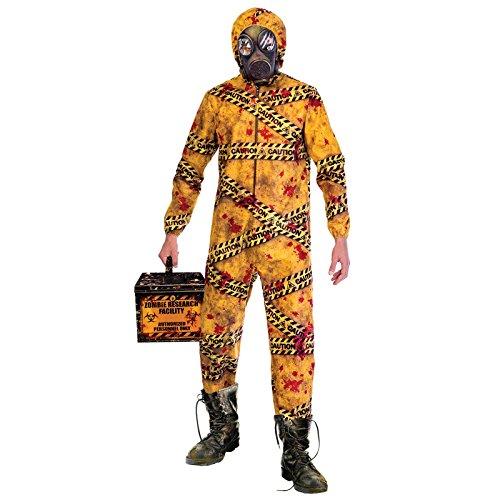 Amscan Disfraz de Zombie Quarantine Biohazard para Hombre de Halloween M/L (Chest 40-42')