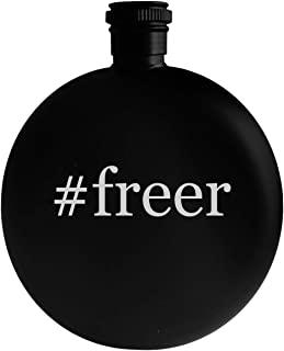 #freer - 5oz Hashtag Round Alcohol Drinking Flask, Black