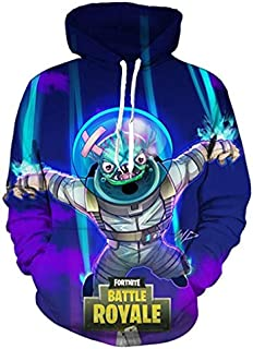 Game Fortnite Battle Royal 3D Digital printing Hoodie Sweater round neck long sleeve fashion comfortable tops-XXL