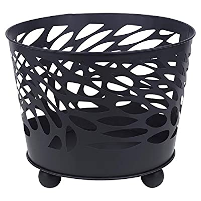 URBN-CHEF Black Metal Fire Basket Bowl for Barbecue, Garden Decor & Outdoors - 3 Designs Available (Leopard) by EGT