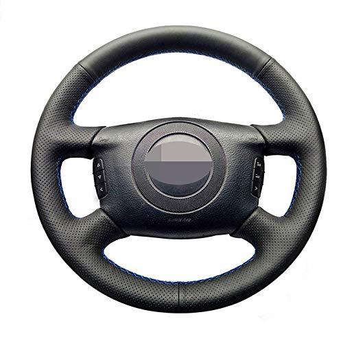 JIERS Cubierta del Volante del Coche, para Audi A6 (C5) A2 (8Z) Avant A8 (D2) S4 2003-2005, Funda de Cuero para Volante