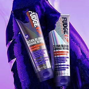Fudge Clean Blonde Damage Rewind Violet-Toning Shampoo 8.4 oz