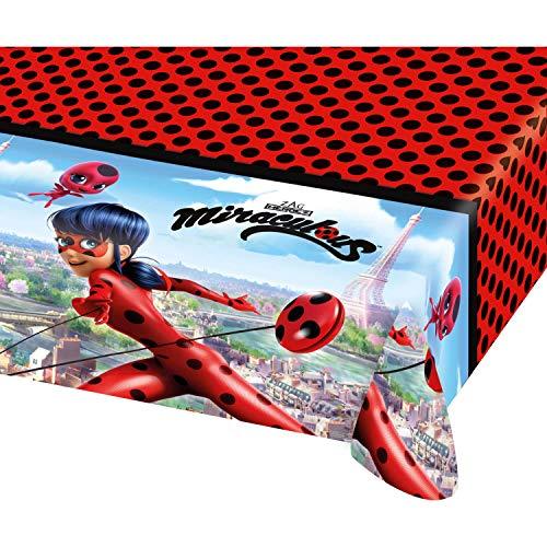 Tischdecke * MIRACULOUS * für eine Mottoparty oder Kindergeburtstag // von Amscan // Ladybug Marienkäfer Superheld Party Geburtstag Table Cover