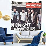 Frieda J O One Direction Midnight Memories Tapestry Mural Wall Hanging Decor for Bedding Bedroom Living Room Dorm Tapestry 59 X 59 Inch