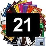 Numéro De Rue Pour Boîte Aux Lettres Adhésif - Numéro De Maison PVC – Plaque Gravée À Personnaliser - GRAND 10 x 7 cm – 21 Couleurs Disponibles (Noir)